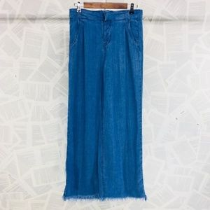 Free People Extra Wide Leg Rough Hem Boho Jeans